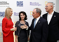 "LONDON, UK - DECEMBER 11: Deborah Armstrong, Katherine Oliver, Michael Bloomberg and Jon Kamen attend the London Premiere of Bloomberg and National Geographic's ""Paris to Pittsburgh"" at the BAFTA Theatre on December 11, 2018 in London, UK. (Photo by Vianney Le Caer/National Geographic/PictureGroup)"