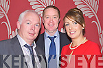 50th:  Fintan Ryan (chairman), Gerald  Carroll, and Mary Brick celebrating the 50th Kilmoyley Hurling GAA Social in Ballyroe Heights Hotle Tralee on Saturday night.....