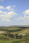Samaria, the Ottoman train station of Masudiya (Sebastia), a view from Shomron hill