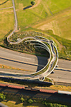 Aerial of the Vancouver Land Bridge, Washington