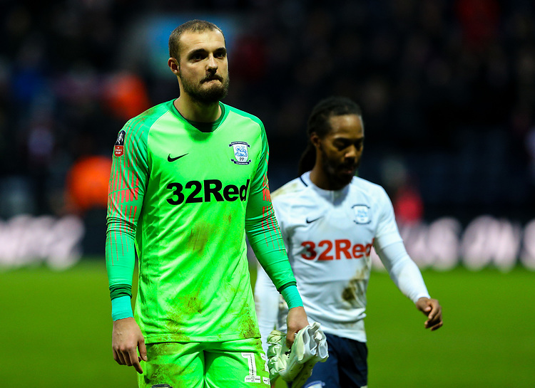 Preston North End's Michael Crowe leaves the field<br /> <br /> Photographer Alex Dodd/CameraSport<br /> <br /> The Emirates FA Cup Third Round - Preston North End v Doncaster Rovers - Sunday 6th January 2019 - Deepdale Stadium - Preston<br />  <br /> World Copyright © 2019 CameraSport. All rights reserved. 43 Linden Ave. Countesthorpe. Leicester. England. LE8 5PG - Tel: +44 (0) 116 277 4147 - admin@camerasport.com - www.camerasport.com