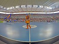 gut gefüllte Commerzbank Arena - Tag des Handball, Rhein-Neckar Löwen vs. Hamburger SV, Commerzbank Arena