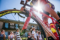 looking up to Ilia Koshevoy (BLR/Wilier Triestina-Selle Italia)<br /> <br /> Stage 15: Valdengo &rsaquo; Bergamo (199km)<br /> 100th Giro d'Italia 2017