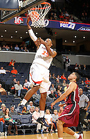 Nov 6, 2010; Charlottesville, VA, USA; Virginia Cavaliers f Akil Mitchell (25) shoots the ball Saturday afternoon in exhibition action at John Paul Jones Arena. The Virginia men's basketball team recorded an 82-50 victory over Roanoke College.