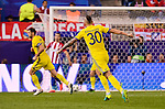 CF Rostov's player Fedor Kudryashov celebrating a goal during a match of UEFA Champions League at Vicente Calderon Stadium in Madrid. November 01, Spain. 2016. (ALTERPHOTOS/BorjaB.Hojas)