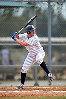 Western Connecticut Colonials first baseman Frank Vartuli (11) at bat during the first game of a doubleheader against the Edgewood College Eagles on March 13, 2017 at the Lee County Player Development Complex in Fort Myers, Florida.  Edgewood defeated Western Connecticut 3-0.  (Mike Janes/Four Seam Images)