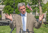 Acting Director of the United States Citizenship and Immigration Services Ken Cuccinelli walks tp meet reporters on the North Driveway of the White House in Washington, DC on Wednesday, July 10, 2019.<br /> Photo Credit: Ron Sachs/CNP/AdMedia
