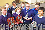AWARDS: Some of the students who received awards at the St Joseph's Ballybunion student awards last week, front l-r: Brendan Moran, Lilly Toomey, Jerry Lane, Nick Chen. Back l-r: Keith Francis, Phillie Blake, Tom Joy, Stephen Galvin.