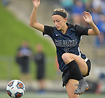 Columbia's Alexa Hildebrand moves controls the ball in the Class 1A girls soccer supersectional game played at Columbia High School in Columbia, IL on Tuesday May 21, 2019.<br /> Tim Vizer/Special to STLhighschoolsports.com
