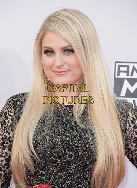 Meghan Trainor at The 2014 American Music Award held at The Nokia Theatre L.A. Live in Los Angeles, California on November 23,2014                                                                                <br /> CAP/RKE/DVS<br /> &copy;DVS/RockinExposures/Capital Pictures