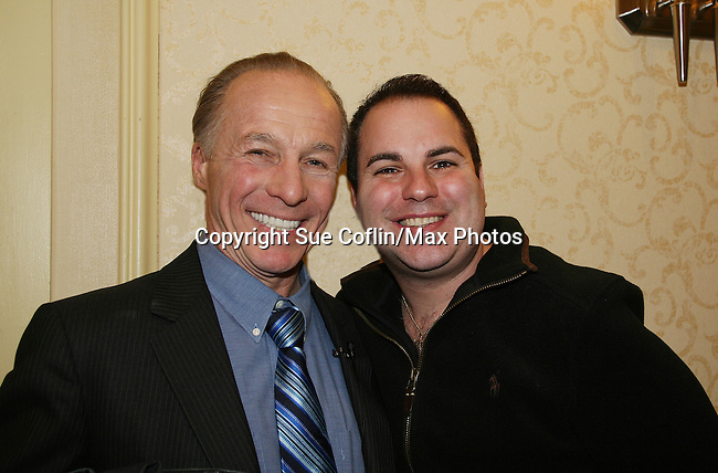 Jackie Martling (The Howard Stern Show) poses with Kenneth Del Vecchio - Press Conference for the Introduction of Jackie Martling as the new spokesperson & host of the Hoboken International Film Festival (June 2010) and in the new indie film An Affirmative Act! - a groundbreaking gay marriage courtroom drama on January 21, 2010 at the Marriott Saddle Brook, Saddle Brook, NJ. (Photo by Sue Coflin/Max Photos)