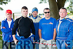 Pat Brosnan Gneeveguilla, Donnach Crowley Gneeveguilla, pat Looney Kilcummin, Ger Neeson Firies and Billy McCarthy Gneeveguilla looking at the action  in the Killarney Autocross in Muckross on Sunday