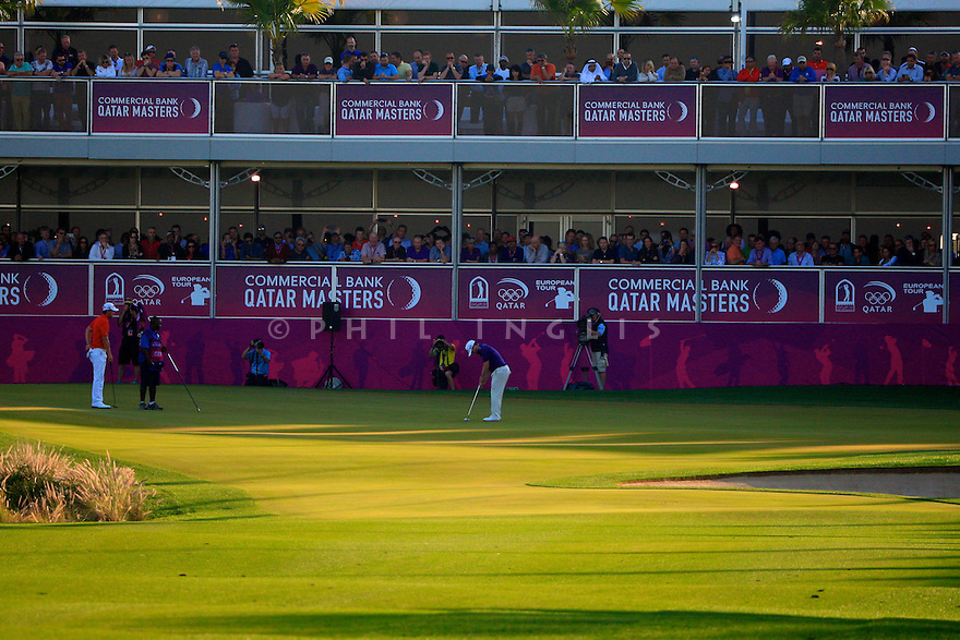 Branden Grace (RSA) in action during the final round of the Commercial Bank Qatar Masters played at Doha Golf Club, Doha, Qatar. 21-24 January 2015 (Picture Credit / Phil Inglis)