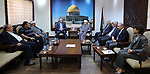 Palestinian Prime Minister, Rami Hamdallah, chairs a meeting of the High Committee for Jerusalem, in the West Bank city of Ramallah, on July 18, 2017. Photo by Prime Minister Office
