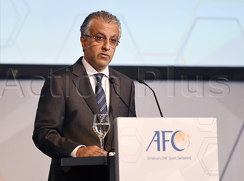 25.02.2016. Zurich, Switzerland. Fifa AFC Confederation luncheon at the Marriott hotel.  AFC President Scheich Salman Bin Ibrahim al-Khalifa (Bahrain)
