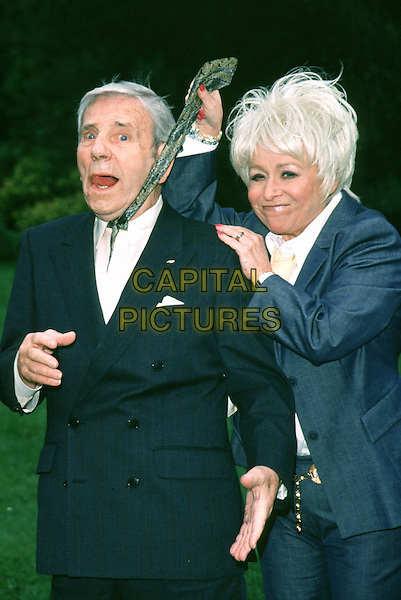 BARBARA WINDSOR & SIR NORMAN WISDOM .at the Gold Tie Pin awards held be the guild of british tie makers.Ref: 10820.www.capitalpictures.com.sales@capitalpictures.com.© Capital Pictures