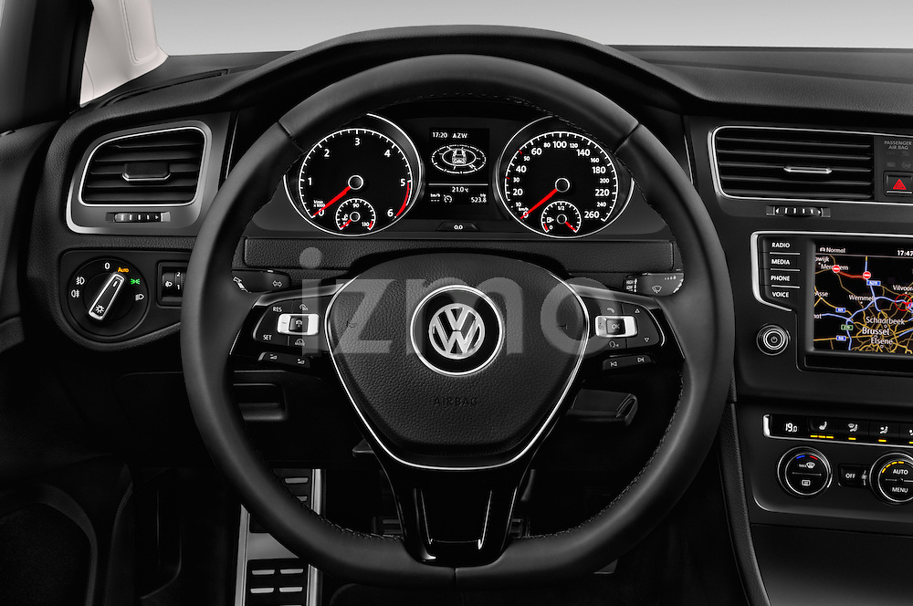 Car pictures of steering wheel view of a 2015 Volkswagen Golf Alltrack 5 Door Wagon Steering Wheel