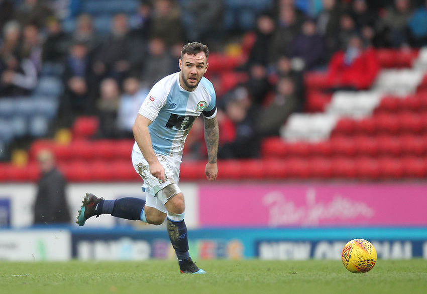 Blackburn Rovers Adam Armstrong<br /> <br /> Photographer Mick Walker/CameraSport<br /> <br /> The EFL Sky Bet Championship - Blackburn Rovers v Bristol City - Saturday 9th February 2019 - Ewood Park - Blackburn<br /> <br /> World Copyright © 2019 CameraSport. All rights reserved. 43 Linden Ave. Countesthorpe. Leicester. England. LE8 5PG - Tel: +44 (0) 116 277 4147 - admin@camerasport.com - www.camerasport.com