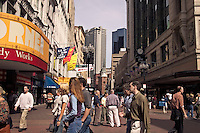 Downtown Crossing street scene, Boston, MA