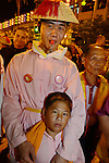 Donggang, Taiwan --  Taoist worshipers at the King Boat burning ceremony.
