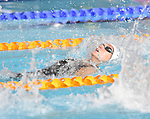 Wales' Georgia Davies competes in the Women's 100m Backstroke - Heat 3<br /> <br /> Photographer Chris Vaughan/Sportingwales<br /> <br /> 20th Commonwealth Games - Day 2 - Friday 25th July 2014 - Swimming - Tollcross International Swimming Centre - Glasgow - UK