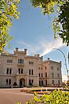 Castello di Miramare, built from 1856 to 1860 for Austrian Archduke Maximilian; Trieste, Italy