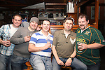 Johhny Holcroft, David Carolan, Stephen Nugent, Jason Reynolds and Lourens Henning at the Xfactor Party in McPhails...(Photo credit should read Jenny Matthews www.newsfile.ie)....This Picture has been sent you under the condtions enclosed by:.Newsfile Ltd..The Studio,.Millmount Abbey,.Drogheda,.Co Meath..Ireland..Tel: +353(0)41-9871240.Fax: +353(0)41-9871260.GSM: +353(0)86-2500958.email: pictures@newsfile.ie.www.newsfile.ie.