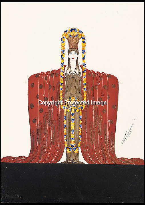 BNPS.co.uk (01202 558833)<br /> Pic: Christie's/BNPS<br /> <br /> ***Please use full byline***<br /> <br /> Costume design for Demeter from &lsquo;Les Idoles&rsquo; at the Folies Bergere 1924.<br /> <br /> An interior designer to the stars is selling virtually the entire contents of her multi-million pounds London apartment that she is moving out of.<br /> <br /> Tessa Kennedy's client list for home makeovers has included Elizabeth Taylor, George Harrison and Pierce Brosnan as well as famous hotels like the Ritz and Claridges.<br /> <br /> During her jet-set career, she acquired opulent pieces of furniture, art work and ornaments from around the world that she filled her town and country residence with.<br /> <br /> Now aged 75, Miss Kennedy no longer requires her three-bed Knightsbridge flat and is auctioning off most of its contents in a unique sale at Christie's.