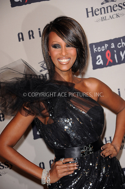 WWW.ACEPIXS.COM . . . . . ....October 15 2009, New York City....Model Iman arriving at the  'Keep A Child Alive's 6th Annual Black Ball'  hosted by Alicia Keys and Padma Lakshmi at Hammerstein Ballroom on October 15, 2009 in New York City.....Please byline: KRISTIN CALLAHAN - ACEPIXS.COM.. . . . . . ..Ace Pictures, Inc:  ..tel: (212) 243 8787 or (646) 769 0430..e-mail: info@acepixs.com..web: http://www.acepixs.com
