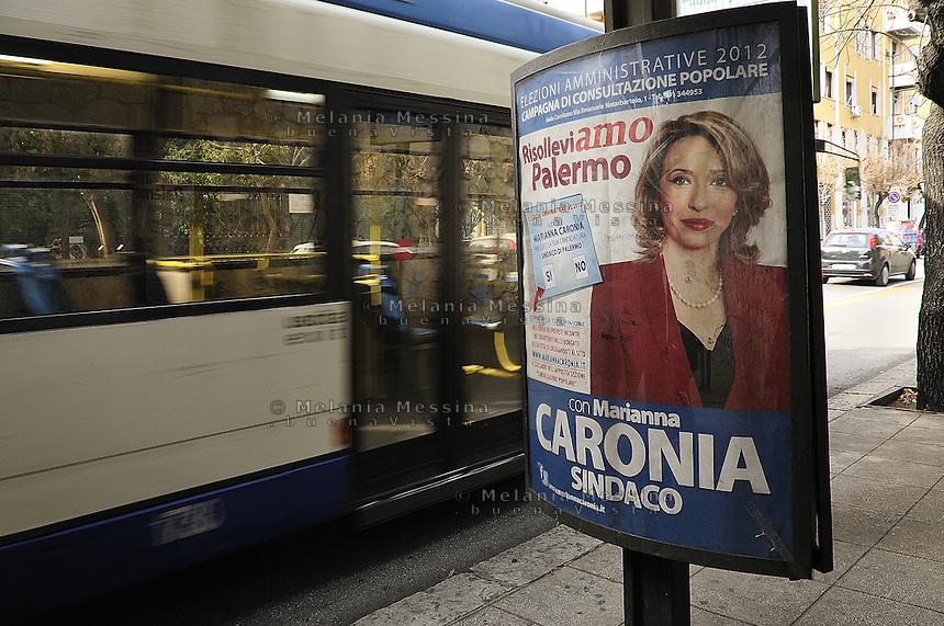 Election posters in Palermo..Manifesti elettorali a Palermo