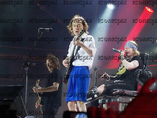 AC/DC - Stevie Young, Angus Young & AXL ROSE - performing live at Stade Velodrome in Marseilles France - 13 May 2016. Photo credit: Patrice Guino/Dalle/IconicPix ** UK ONLY **