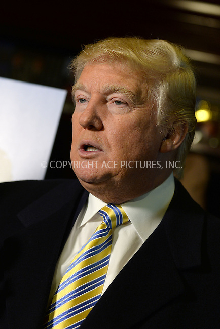 WWW.ACEPIXS.COM<br /> January 20, 2015 New York City<br /> <br /> Donald Trump attending 'Celebrity Apprentice' Red Carpet Event at Trump Tower on January 20, 2015 in New York City<br /> <br /> Please byline: Kristin Callahan/AcePictures<br /> <br /> ACEPIXS.COM<br /> <br /> Tel: (212) 243 8787 or (646) 769 0430<br /> e-mail: info@acepixs.com<br /> web: http://www.acepixs.com