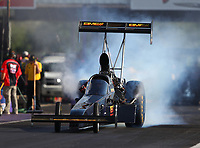 Apr 21, 2017; Baytown, TX, USA; NHRA top fuel driver Troy Buff during qualifying for the Springnationals at Royal Purple Raceway. Mandatory Credit: Mark J. Rebilas-USA TODAY Sports