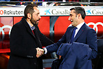 League Santander 2017/2018. Game: 25.<br /> FC Barcelona vs Girona FC: 6-1.<br /> Pablo Machin &amp; Ernesto Valverde.