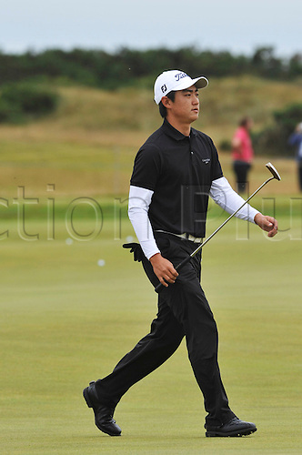 15/07/10 Jin Jeang (KOR) am in action  on the Old Course , St  Andrews, Fife, Scotland in the first round of  British Open Championship