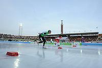 SCHAATSEN: AMSTERDAM: Olympisch Stadion, 02-03-2014, KPN NK Sprint/Allround, Coolste Baan van Nederland, Koen Verweij, Renz Rotteveel, ©foto Martin de Jong