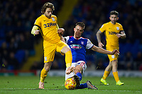 Jonas Knudsen of Ipswich Town gets the challenge on Ben Pearson of Preston North End during Ipswich Town vs Preston North End, Sky Bet EFL Championship Football at Portman Road on 3rd November 2018