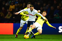 Preston North End's Louis Moult is tackled by Blackburn Rovers' Harrison Reed<br /> <br /> Photographer Richard Martin-Roberts/CameraSport<br /> <br /> The EFL Sky Bet Championship - Preston North End v Blackburn Rovers - Saturday 24th November 2018 - Deepdale Stadium - Preston<br /> <br /> World Copyright © 2018 CameraSport. All rights reserved. 43 Linden Ave. Countesthorpe. Leicester. England. LE8 5PG - Tel: +44 (0) 116 277 4147 - admin@camerasport.com - www.camerasport.com