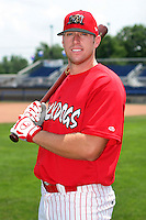 Batavia Muckdogs Charlie Yarbrough poses for a photo before a NY-Penn League game at Dwyer Stadium on June 30, 2006 in Batavia, New York.  (Mike Janes/Four Seam Images)