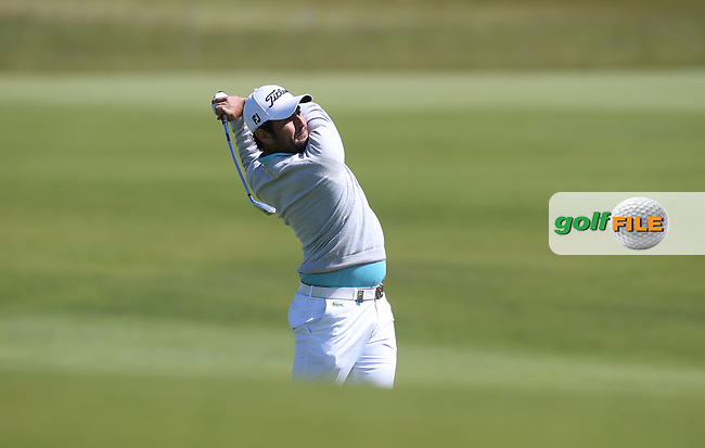 Alexander Levy (FRA) plays second shot to the 8th during Round Two of the 2015 Nordea Masters at the PGA Sweden National, Bara, Malmo, Sweden. 05/06/2015. Picture David Lloyd | www.golffile.ie