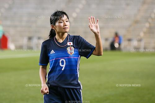 Nahomi Kawasumi (JPN), <br /> MARCH 7, 2016 - Football / Soccer : <br /> AFC Women's Olympic Football Tournament Rio 2016 Asian Qualifier Final Round match between Japan 6-1 Vietnam <br /> at Kincho Stadium, Osaka, Japan. <br /> (Photo by Yohei Osada/AFLO SPORT)