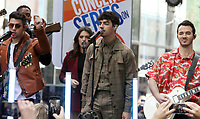June 07, 2019  Nick Jonas Joe Jonas, Kevin Jonas of Jonas Brothers at Today Show Concert Series to perform,  talk about new album Happiness Begins and tour in New York June 07, 2019   <br /> CAP/MPI/RW<br /> ©RW/MPI/Capital Pictures