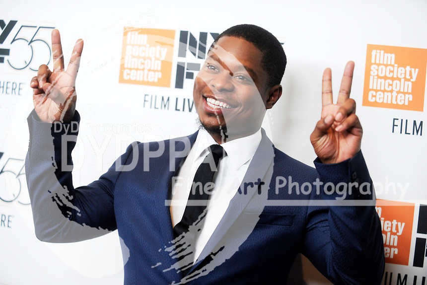 Jason Mitchell bei der Premiere von 'Mudbound' auf dem 55. New York Film Festival in der Alice Tully Hall. New York, 12.10.2017
