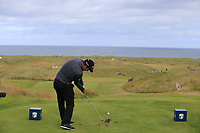 Ryan Fox (NZL) tees off the par3 14th tee during Thursday's Round 1 of the 2018 Dubai Duty Free Irish Open, held at Ballyliffin Golf Club, Ireland. 5th July 2018.<br /> Picture: Eoin Clarke | Golffile<br /> <br /> <br /> All photos usage must carry mandatory copyright credit (&copy; Golffile | Eoin Clarke)