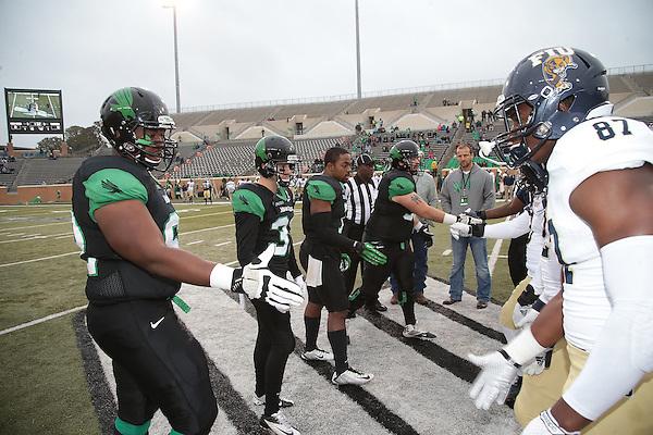 DENTON, TX - NOVEMBER 22: Mean Green Football v Florida International University at Apogee Stadium in Denton on November 22, 2014 in Denton, Texas. Photo by Rick Yeatts