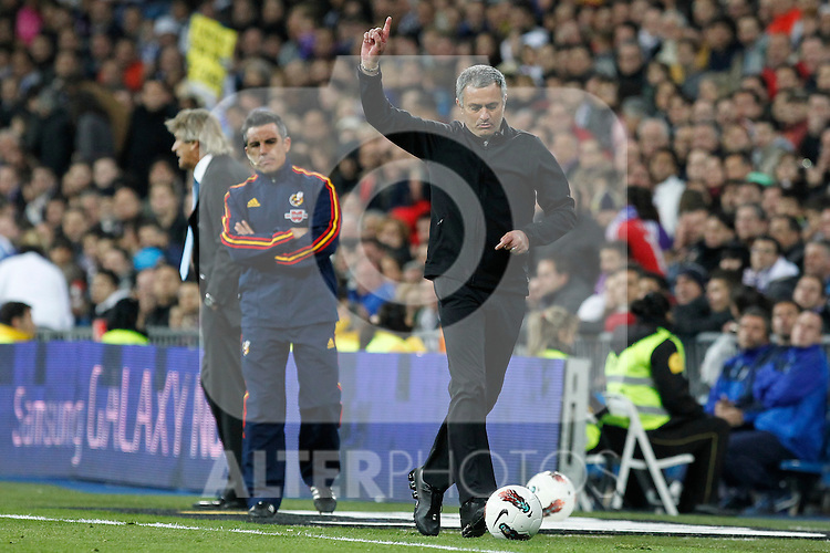 Real Madrid's Jose Mourinho during la Liga match on march 18th 2012...Photo: Alex Cid-Fuentes / ALFAQUI