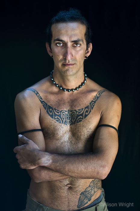 Tatooed man, Easter Island, 2006