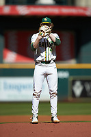 Baylor Bears starting pitcher Paul Dickens (40) looks to his catcher for the sign against the Missouri Tigers in game one of the 2020 Shriners Hospitals for Children College Classic at Minute Maid Park on February 28, 2020 in Houston, Texas. The Bears defeated the Tigers 4-2. (Brian Westerholt/Four Seam Images)