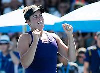 JENNIFER BRADY (USA)<br /> <br /> TENNIS , AUSTRALIAN OPEN,  MELBOURNE PARK, MELBOURNE, VICTORIA, AUSTRALIA, GRAND SLAM, HARD COURT, OUTDOOR, ITF, ATP, WTA<br /> <br /> &copy; TENNIS PHOTO NETWORK
