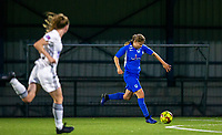 20190823 - OUD HEVERLEE BELGIUM : KRC Genk's Aster Janssens pictured when she is about the score the third goal of her team during the female soccer game between the OHL Ladies vs KRC Genk Ladies, the first game for both teams in the Belgian Women's Super League , Friday 23rd  August 2019 at the OHL Jeugdcomplex , Belgium . PHOTO SPORTPIX.BE | SEVIL OKTEM